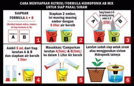 Cara Membuat Larutan Nutrisi AB Mix untuk Hidroponik, yang harus anda ketahui !!